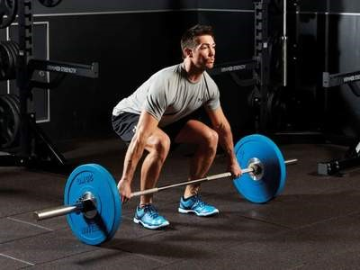 Taking the barbell on the chest