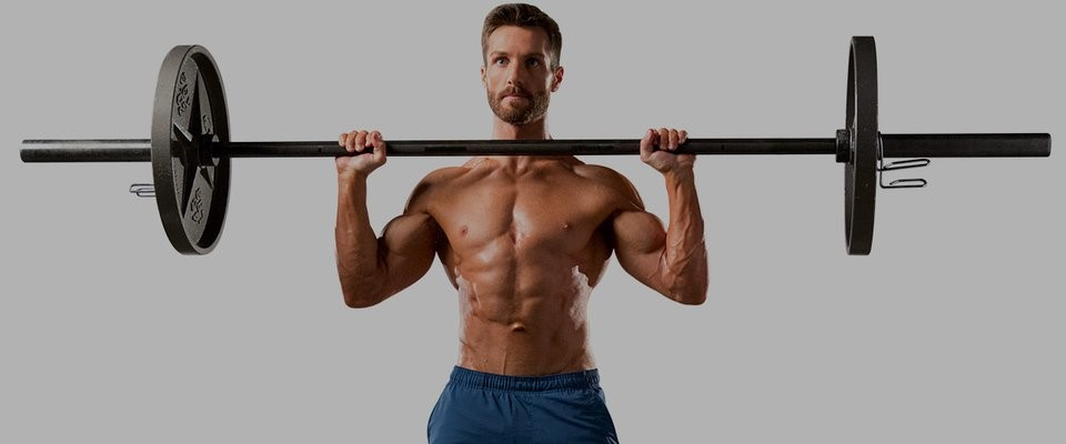 Taking the barbell to the chest from a standing position